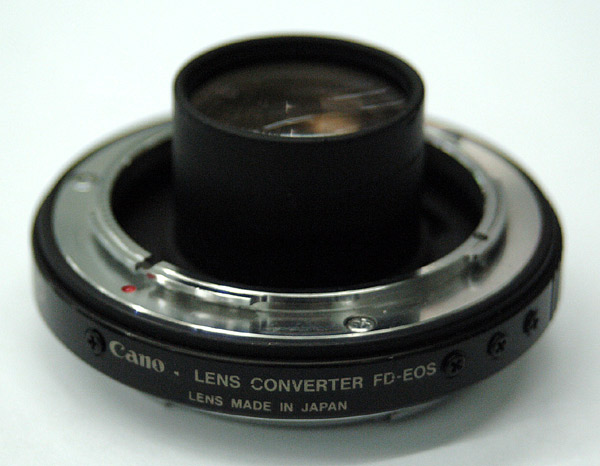 Converting a Canon Extender FD 1 4 to EOS mount